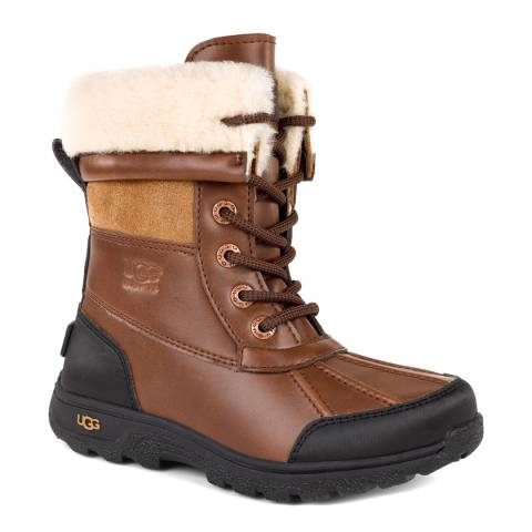 UGG Kid's Worcester Butte II Leather Boots