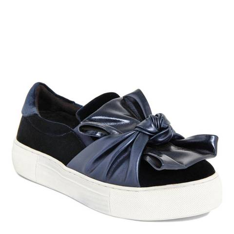 Onako Women's Midnight Blue Karolina Bow Trainer
