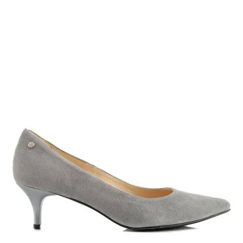b522b339e12e0 Grey Suede Low Spike Heels - BrandAlley