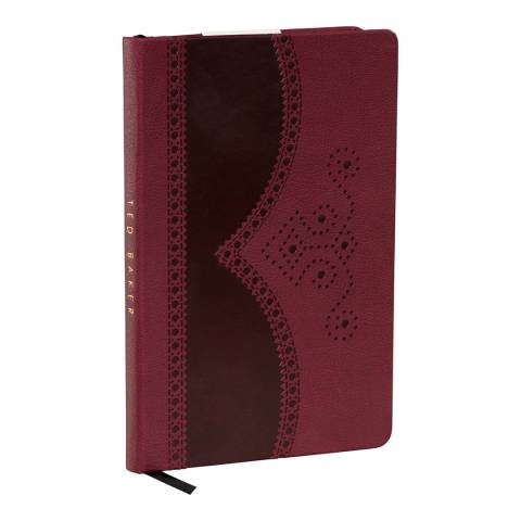 Ted Baker Oxblood A5 Notebook