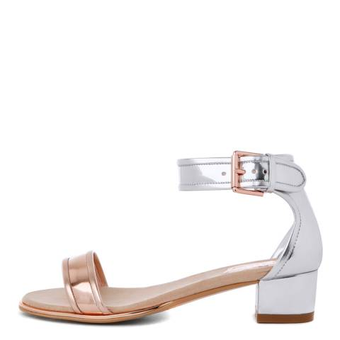 Ted Baker Silver/Rose Gold Ruz Synt Ballet Flat Shoes