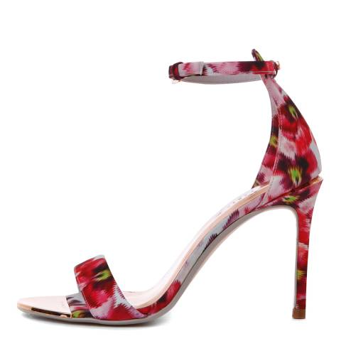 Ted Baker Pink/Print Charv Expressive Pansy Stiletto Sandals