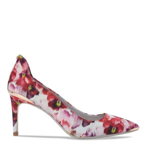 Ted Baker Pink/Print Vyixin Expressive Pansy Court Shoes