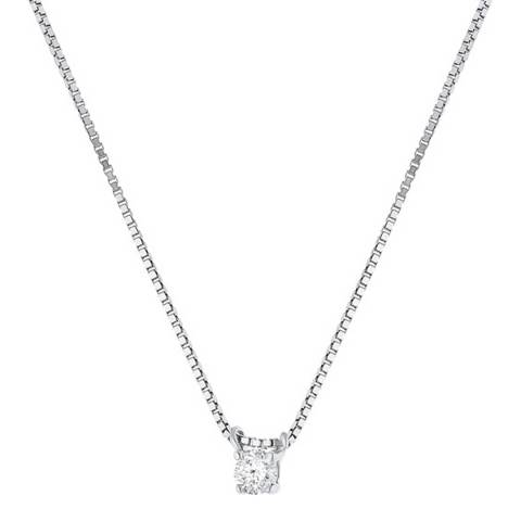 Dyamant White Gold Solitaire Diamond Necklace