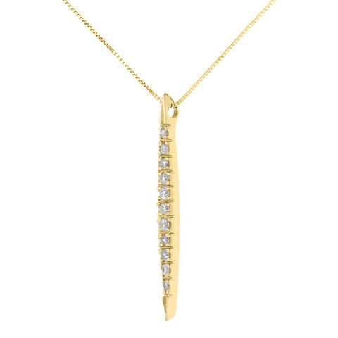 Diamond Design Yellow Gold Drop Diamond Necklace