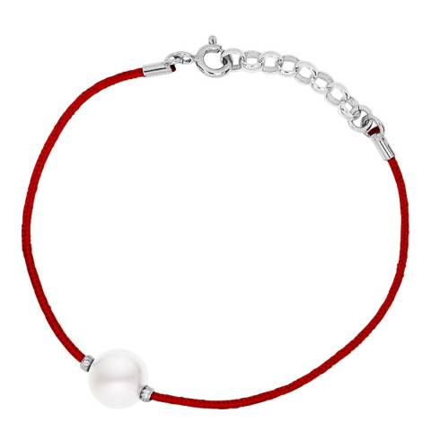 Only You Red/White Freshwater Pearl Bracelet