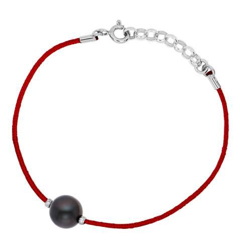 Pretty Solos Red/Black Freshwater Pearl Bracelet