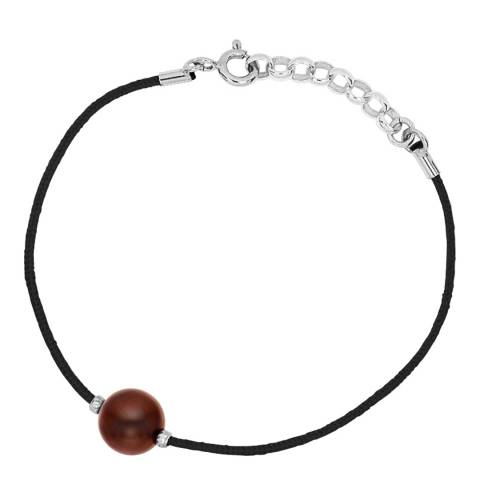 Diamant & Argent Chocolate Freshwater Pearl Bracelet