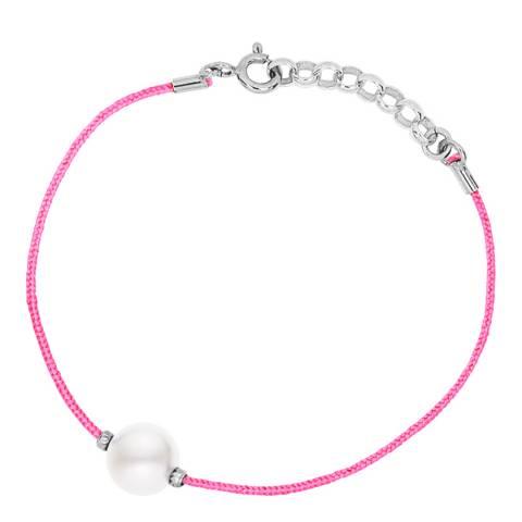 Diamant & Argent Pink/White Freshwater Pearl Bracelet