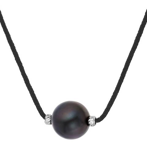 Pretty Solos Black Freshwater Pearl Necklace