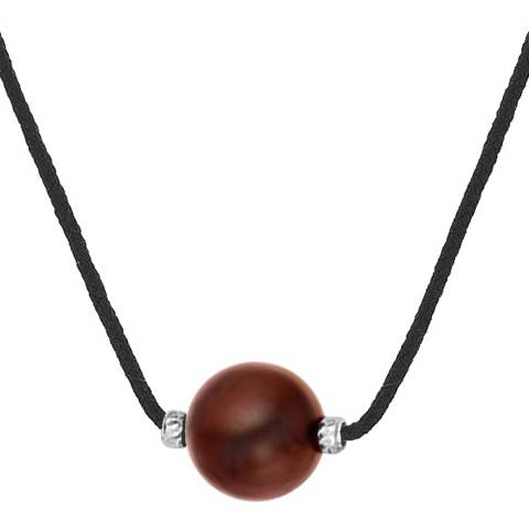 Diamond Design Chocolate Freshwater Pearl Necklace
