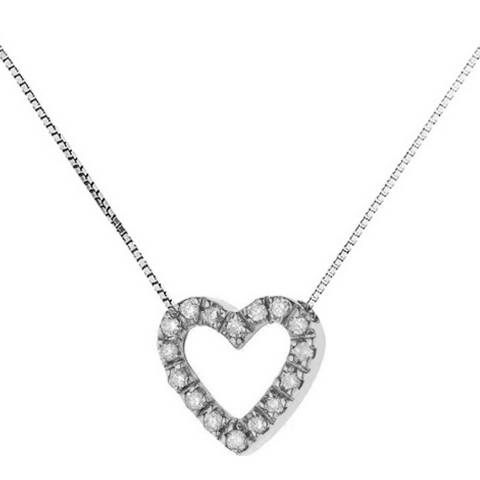 Dyamant White Gold Heart Diamond Necklace