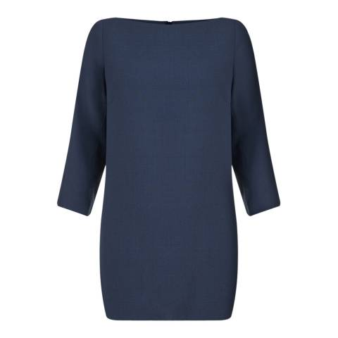 Jigsaw Womens Prussian Blue Double Crepe Vented Tunic