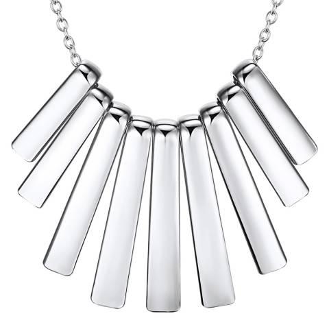 Runway Silver Fan Necklace