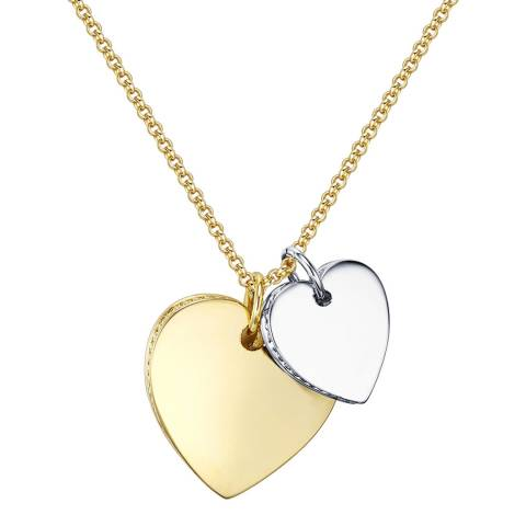 Runway Gold/Silver Heart Necklace