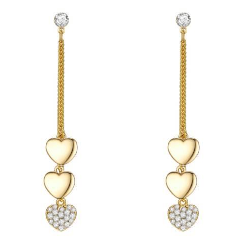 Runway Gold Heart Drop Earrings