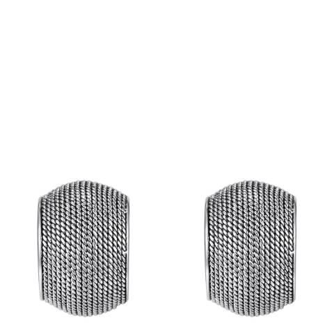 Runway Silver Hoop Earrings