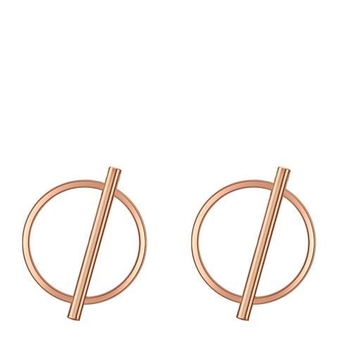 Runway Rose Gold Circle Line Earrings