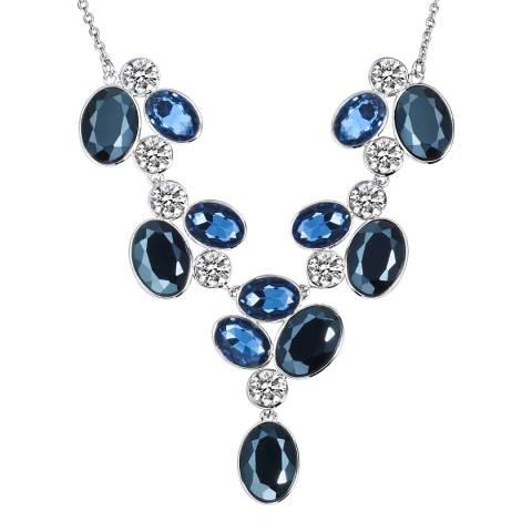 Runway Blue/Silver Gem Necklace