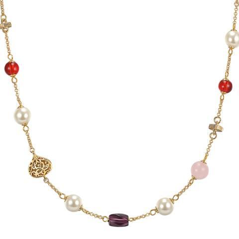 Runway Multi Gemstone Gold Necklace