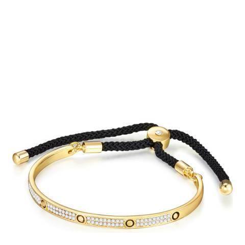 Runway Gold/Black Cord Bracelet