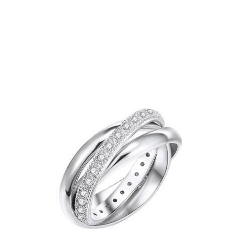 Tassioni Silver Zirconia Lined Ring