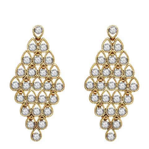Runway Gold Crystal Earrings