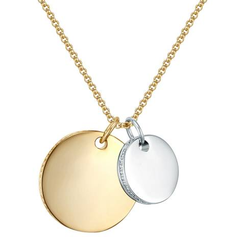 Runway Gold/Silver Disc Necklace