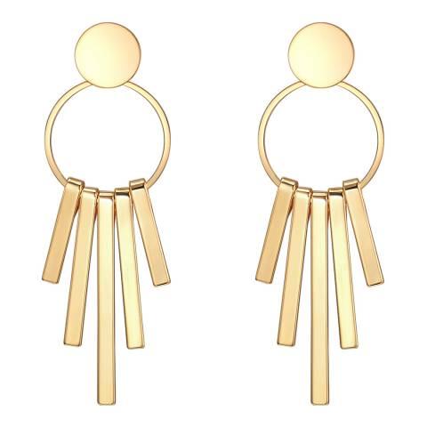 Runway Gold Linear Drop Earrings