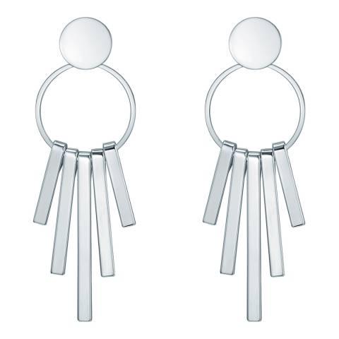 Runway Silver Linear Drop Earrings
