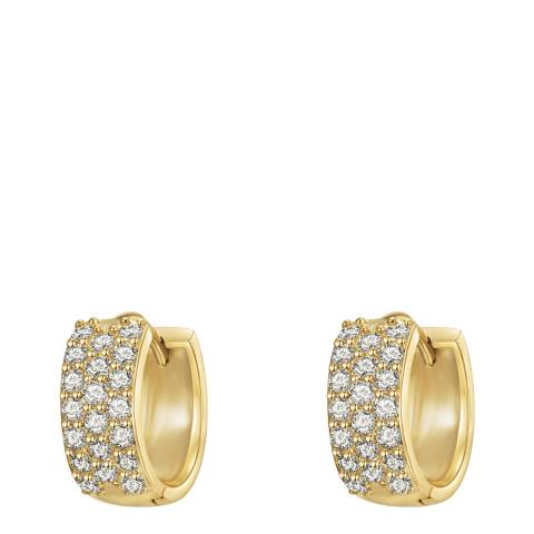 Runway Gold Zirconia Hoop Earrings