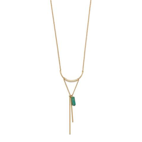 Chloe Collection by Liv Oliver Gold Bar Long Necklace