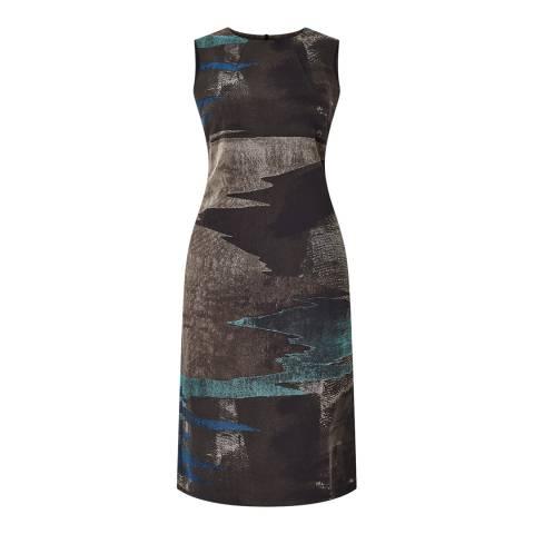 Jigsaw Womens Rock Ocean Tide Jacquard Dress