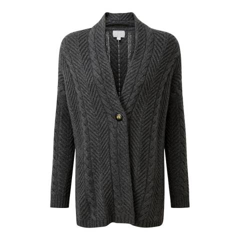 Pure Collection Grey Luxury Cashmere Cardigan
