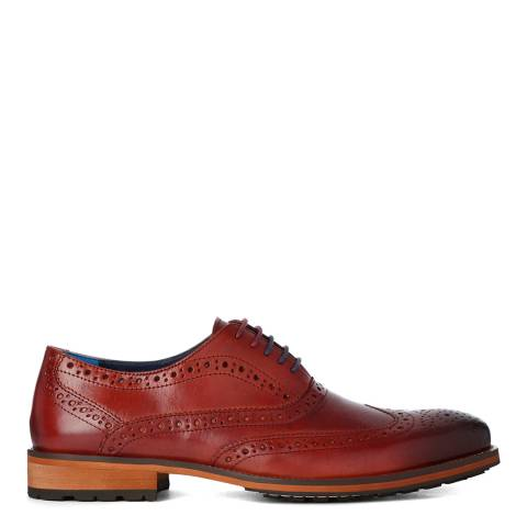 Justin Reece Mens Wine Leather Oliver Shoes