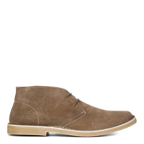Justin Reece Mens Beige Suede Donald Boots