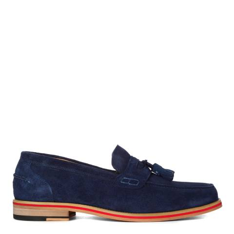 Justin Reece Mens Navy Blue Suede Denver 2 Loafers