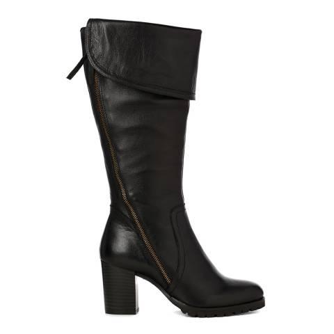 Justin Reece Womens Black Leather Celia Long Boots