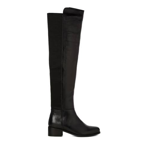 Justin Reece Womens Black Leather Debby Long Boots