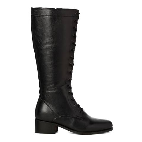 Justin Reece Womens Black Leather Gemma Calf Boots