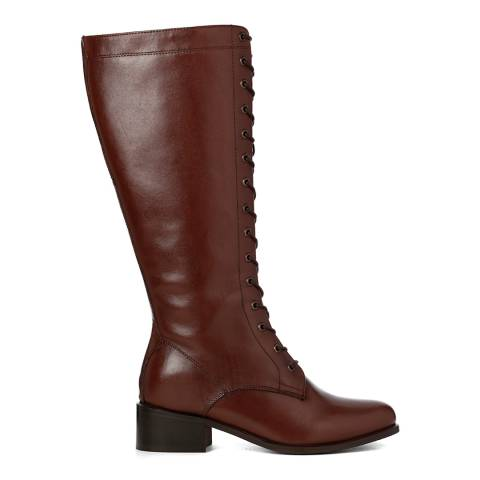 Justin Reece Womens Brown Leather Gemma Calf Boots