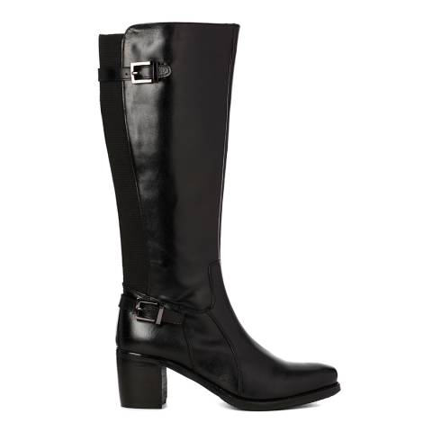 Justin Reece Womes Black Leather Jolie Calf Boots