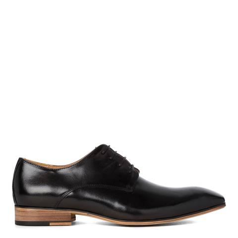 Justin Reece Black Leather Roosevelt Derby Shoes