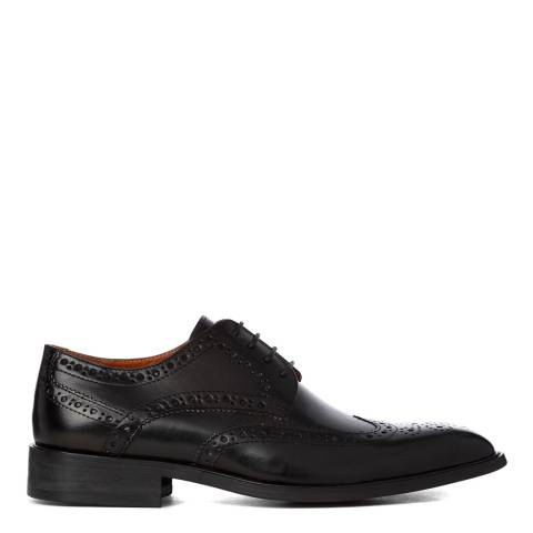 Justin Reece BLACK LEATHER DEREK SHOES