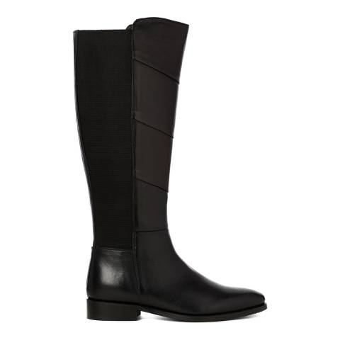 Justin Reece Womens Black Leather Mila Calf Boots