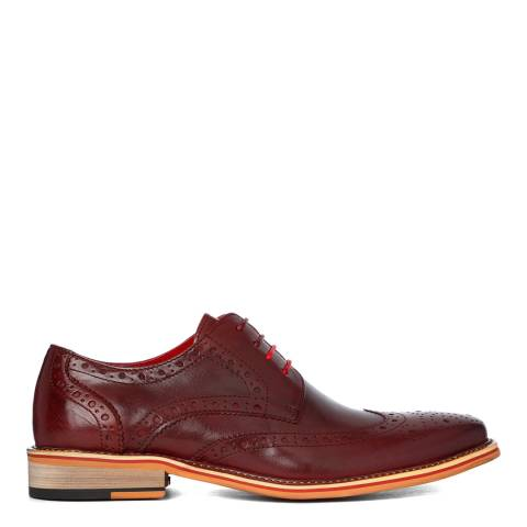 Justin Reece Wined Red Leather Dover Brogue