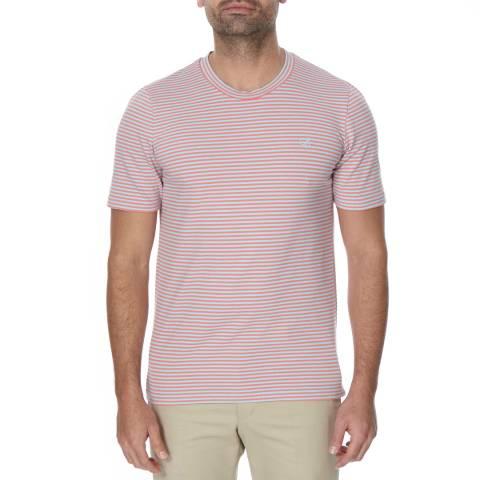 Oliver Sweeney Coral/Turquoise Stripe Castelo Tshirt