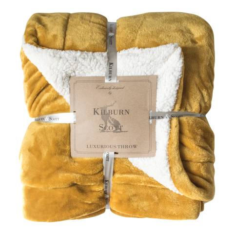 Gallery Ochre Sherpa Throw 152x177cm