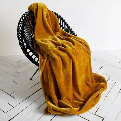 Kilburn & Scott Ochre Ultimate Fleece Throw 150x210cm