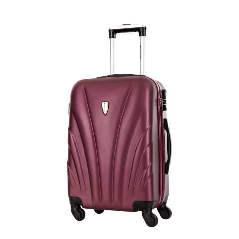 Platinium Bordeaux Spinner Delfino Suitcase 60cm